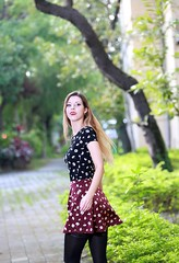 DP1U4557 (c0466art) Tags: beautiful germany blond beauty sarah sweet lovely pretty face eyes nose lips golden hair nice figure tall slim white skin old hospital building pose action elegant happy mind bright afternoon sun light outdoor portrait canon 1dx c0466art