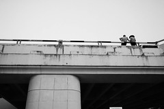 IMG_8035vietnam2016 (MlleJeanne) Tags: blackandwhite vietnam hochiminh city airport chillin vietnamhat vietnamesepeople bridge