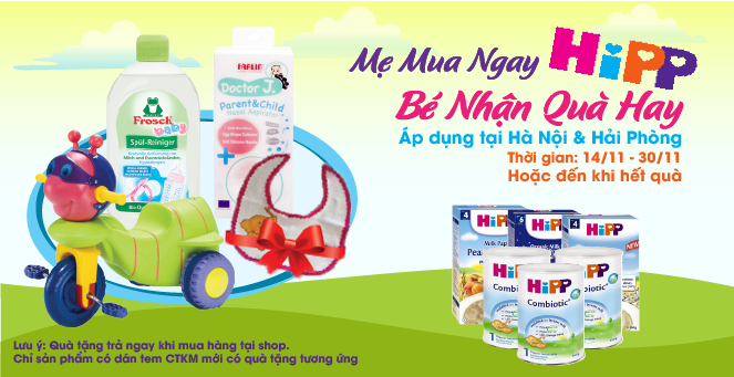 Mẹ Mua Ngay HiPP - Bé Nhận Quà Hay