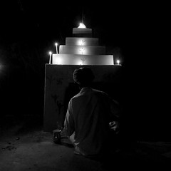 Night prayer (Rahul Gaywala) Tags: kutch kutchh vibrant gujarat lrk grk white desert handicraft art india village rural boy girl woman women life colorful vivid tribal colorsofindia greatrunnofkutch eyes expression culture portrait ethnic face travel people