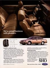 1991 Ford Taurus SHO (aldenjewell) Tags: 1991 ford taurus sho ad