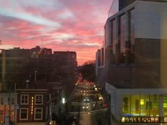 Sky over The Hague (JoséDay) Tags: thehague denhaag skylovers sunsets 100views flickrfriends nederlandbijnacht nederland thenetherlands bibliotheek doorhetraam streetview