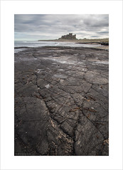 Bamburgh beach (andyrousephotography) Tags: bamburgh castle northumberland beach rocks rockpools seaweed cracks lines clouds andyrouse canon eos 5d mkiii