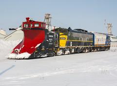 Plowin', Snow Plowin' (Joseph Bishop) Tags: osr 6508 1401 emd f9 belmont ontario ontariosouthlandrailway trains train track tracks railfan railroad railway rail rails stthomassubdivision snow plow snowplow