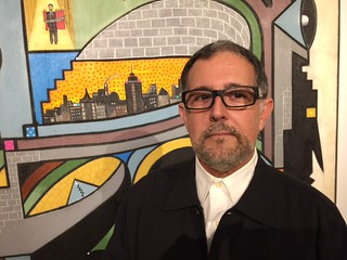 Artist Mario Bencomo at The Cuban museum VIP opening