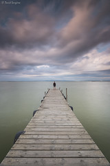 Ephemeral Moments VI. (dasanes77) Tags: canoneos6d canonef1635mmf4lisusm tripod landscape seascape cloudscape waterscape clouds longexposure horizon portrait water lake pier wood old calm tranquility sunrise morning ephemeralmoments