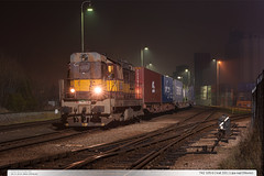 742.105-0 | trať 331 | Lípa nad Dřevnicí (jirka.zapalka) Tags: train trat331 czech night stanice autumn lipanaddrevnici metrans rada742 nex cdcargo