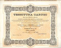 TESSITURA CARUGO (scripofilia) Tags: 1907 azioni carugo tessitura tessituracarugo