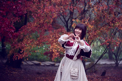 SDF_5767 (SendoFu) Tags: bonnet ボンネット エプロン風スカート blouse bl ブラウス headbow kc カチューシャ bnt 蕾絲 維多利亞 jsk op onepiecedress ワンピース jumperskirt ジャンパースカート nop lolita lolitafashion 蘿莉塔 蘿莉塔時裝 ロリータ・ファッション sweetlolita classicallolita