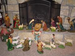 Catholic Church Christmas Nativity Set (shawnmkell) Tags: koeltztown catholic church statue christmas nativity creche mary wise men restored gothic interior jesus jefferson city diocese missouri vintage antique family tradition