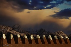 Toblerone Mountain range (night watch1) Tags: bar caped chocolate cloud crest mountain range silver sky snow toblerone