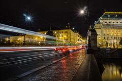 Passing through    [Explore 07-12-2016 !!] (andbog) Tags: sony alpha ilce a6000 sonya6000 emount mirrorless csc sonya sonyα sonyalpha sony⍺6000 sonyilce6000 sonyalpha6000 ⍺6000 ilce6000 apsc praga prague praha prag repubblicaceca cechia českárepublika czechrepublic boemia čechy böhmen lights longexposure lighttrails ponte bridge macchine cars river night notte oss sel selp1650 1650mm mostlegií praha1 legionbridge tram nationaltheatrenárodnídivadlo národnídivadlo traffic traffico over100fav explore inexplore explored motion