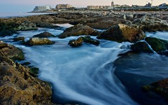 Origins (GianlucaChincoli) Tags: water stream flow lines white blue city malta canon long exposure rocks contrast landscape focus tripod sky sea ocean origins art artistic amazing beautiful hahah can write whatever want