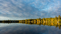 'Facing West' (Canadapt) Tags: sunrise shoreline reflection clouds cottages keefer canadapt