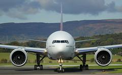 A6-EPQ Boeing 777 Emirates (GSairpics) Tags: a6epq boeing boeing777 b77w ek uae emirates emiratesairlines aircraft aeroplane airplane aviation transport travel jet jetliner airline airliner widebody airport gla egpf glasgowairport renfrewshire scotland