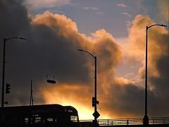 Ballard Bridge (quietseattle) Tags: sky clouds sunset bridges ballard seatle dusk bus