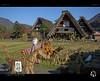Scarecrow (tomraven) Tags: scarecrow field paddy houses shirakawago tomraven aravenimage autumn harvest sun skyblue sky mountains alps tomraveninjapan nikon1 v2 q42016