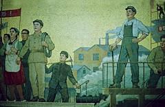 Pyongyang Metro mosaik (Frühtau) Tags: dprk north korea pyongyang metro mosaik mural propaganda asia asian nordkorea ubahn motive motiv worker party industry 朝鮮 северная корея cháoxiān الشمالية