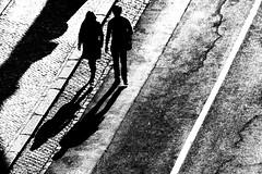 Passeggiando (luporosso) Tags: roma rome italia italy bianconero biancoenero blackandwhite blackwhite blancoynegro noiretblanc monocromatico monochrome monocrome ombra ombre shadow silhouette siluetas bw bn stroll walk allaperto street