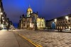 St Giles Cathedral and The Royal Mile at night (iancowe) Tags: st giles cathedral stgilescathedral edinburgh royal mile theroyalmile scotland scottish church catholic reformation crown night floodlit cobbles cobble street long exposure evening protestant johnknox