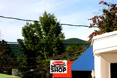 Woodstock, New York (561jaclyn) Tags: new york trees music mountain newyork mountains nature shop upstate powerlines shops woodstock musicshop