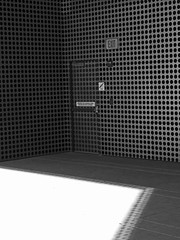 EXIT-Tampa museum... (al-ien) Tags: exit blackandwhitephotography tampaflorida tampamuseumofart abstractreality
