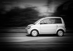 Going45 (-M1ke-) Tags: blackandwhite bw white black speed streetphotography fast panning zwart wit zw 45km brommobiel