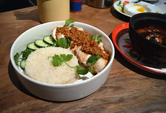 Khao Man Gai (jpellgen) Tags: sanfrancisco california ca travel autumn food fall chicken cali nikon rice foodporn thai bayarea tamron westcoast 2014 hainanese 18200mm kinkhao khaomungai khaomangai d5100