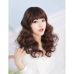 วิกผม แบบสาวเกาหลีรุ่นใหม่แบบตุ๊กตาปลายดัดลอน นำเข้า สีน้ำตาล พร้อมส่งW004 ราคา670บาท  โทรสั่งของกับ พี่โน๊ต/พี่เจี๊ยบ : 083-1797221, 086-3320788, 02-9394933 | LINE User ID : lotusnoss และ lotusnoss.com #วิกผม #วิกผมดัดลอน #วิกผมหน้าม้า
