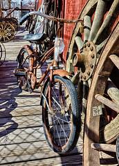 R_Oatman_20Sep2014-84_HDR-Edit.jpg (Photo Rob2) Tags: arizona bike places ghosttown machines hdr wagonwheel citys oatman mohavecounty momsvist2014