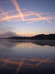 Couloir aérien ** (Titole) Tags: morning lake reflection sunrise thechallengefactory bassindetrévoix titole nicolefaton firendlychallenges