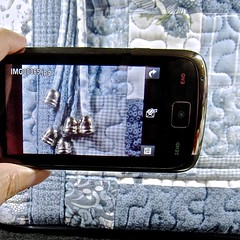 cellphone in use ~grin~ (muffett68 ☺☺) Tags: bag patchwork ansh 277365 scavenger11 squareaspect donnasharp acellphoneinuse