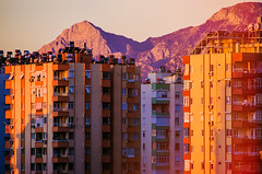 Kind of hard to believe it's all still here (Melissa Maples) Tags: morning autumn mountain sunrise buildings turkey dawn nikon asia apartments türkiye lightleak antalya nikkor vr afs 尼康 18200mm 土耳其 f3556g ニコン 18200mmf3556g d5100