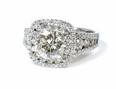 Shane Co Semi-Mount (theappraiserlady) Tags: halo jewelry engagementring ring diamond heirloom weddingring anillo diamondring diamantes engagements carats diamondengagementring shaneco theappraiserlady shanecomounting