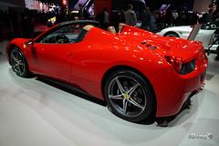 Ferrari 458 Spyder (iDiapo) Tags: auto show orange paris car zeiss volkswagen nissan sofia sony carlos ferrari lucas richard wrc di rolls motor soire alpha passat ff royce 6000 amg stephane speciale aperta mondial 2014 montezemolo 458 acteurs a ghosn a6000