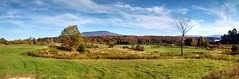 Autumn Landscape - Panorama (Geoffrey Coelho Photography) Tags: blue autumn trees red sky panorama orange color fall colors beautiful field yellow rural forest season landscape outside outdoors countryside woods october scenery colorful vermont natural outdoor farm vibrant country farming seasonal scenic meadow newengland peaceful scene panoramic calm autumnleaves september foliage pasture farms serene stowe agriculture pastoral idyllic scenics autumnscene stowevermont nauture idylliclandscape