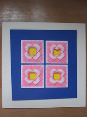 Patch work (Marjan 8) Tags: paper origami card patchwork paperfolding kaart