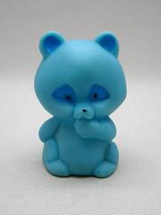Creature from the Blue Raccoon (The Moog Image Dump) Tags: blue cute vintage toy taiwan kawaii figure raccoon racoon squeaker squeaky
