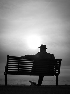 Man on a bench - mono Explore #2 7/10/14