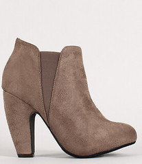 "two tone round toe chunky heel chelsea taupe • <a style=""font-size:0.8em;"" href=""http://www.flickr.com/photos/64360322@N06/15323443357/"" target=""_blank"">View on Flickr</a>"
