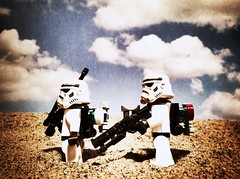 Heat (kevinmboots77) Tags: starwars lego stormtroopers sandbox sandtroopers legography bleachedfilter