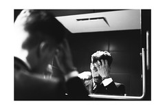 (Elena Torre) Tags: portrait white black photography nikon ritratto specchio riflesso maxxi