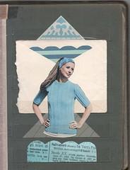 20th Century - Adjustable collage : cut, un-pasted (kurberry) Tags: blue collage vintageephemera negativestorage