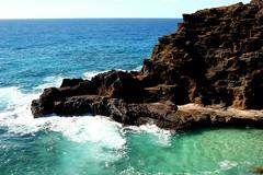 beach rock point island hawaii lava hole oahu rocky blow hi honolulu hnl pointed halona halonabeach konomark