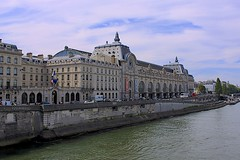 Musée d'Orsay and Seine River (oxfordblues84) Tags: sky paris france building water museum architecture clouds river europe artmuseum muséedorsay seineriver 5photosaday quaianatolefrance roadscholar roadscholartour