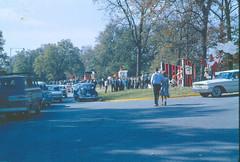 1964 11 Display Row at Tillman Hall HC (clemsonstepp) Tags: homecoming displays floats clemson