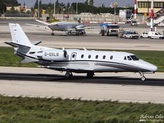 London Executive Aviation Ltd --- Cessna 560XL Citation XLS --- G-GXLS (Drinu C) Tags: plane aircraft sony dsc cessna citation mla bizjet privatejet xls 560xl lmml londonexecutiveaviationltd hx100v adrianciliaphotography ggxls