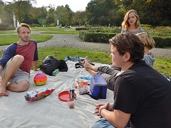 Good Looking Family (mikecogh) Tags: family robin amsterdam ball mother son nathalie attractive rug cans relaxed vondelpark joti