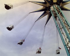 Starflyer ride, Southbank, London, summer 2014 (Cybermyth13) Tags: uk summer england sky cloud london thames circle fun high ride williams fairground carousel southbank billy lambeth starflyer londonist skyflyer wonderground 220ft