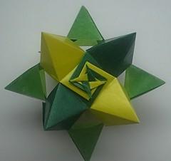 Star Shaped Polyhedron (modular.dodecahedron) Tags: modularorigami toshikazukawasaki cubicsymmetry edgemodule